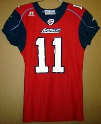 Los Angeles Avengers 11 Red Arena Football League Afl Russell Size Large Jersey