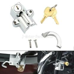 Chrome Motorcycle Helmet Lock For Harley Davidson Electra Ultra Classic Dyna