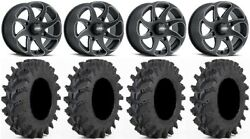 Itp Twister 14 Wheels Milled 28 Outback Max Tires Yamaha Grizzly Rhino