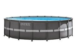 Intex 18ft X 52in Ultra Frame Pool Set With Sand Filter Pump Ladder Ground Cloth