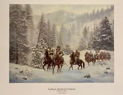 Don Stivers Nathan Bedford Forrest A/p Print Fort Donelson Extremely Rare 1984