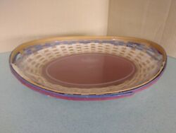 Longaberger Contour Swoop Tray American Celebrations Basket With Protector New