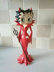 Extremely Rare Betty Boop As Sexy Red Devil Figurine Statue