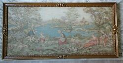 Vintage Tapestry Wall Hanging Framed