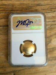 2014 Gold $5 NGC PR70  MIKE TROUT AUTO SIGNED Baseball Hall of Fame Proof