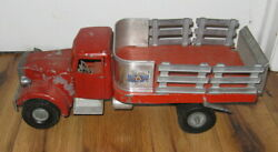 Vtg 1950s Smith-miller Mack Mic Cab Lift-o-matic Stake Truck Union Teamsters