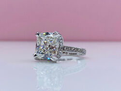 GIA 10.01 Ct H Color SI1 Clarity Cushion Cut Diamond Ring 10.00 Carat 10ct 10 CT