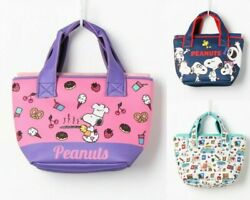 Peanuts Snoopy Cool Lunch Mini Tote Bag Purse Handbag Pouch Japan With Tracking