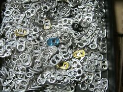 Lot 1000 Aluminum Can Tabs Pull Tabs Pop Tops Soda Beer For Craft/art Some Gold
