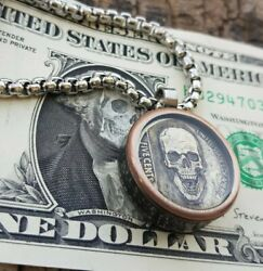 Hobo Nickel Necklace and Hobo Dollar Bill with 26quot; Stainless Steel Chain $29.99