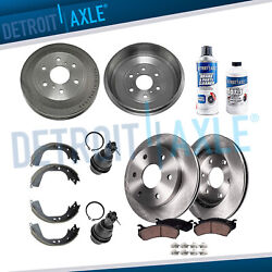 Front Rotors And Ceramic Pads Rear Drums And Shoes 2009-2013 Silverado Sierra 1500