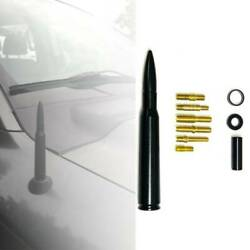 Chevy Silverado 50 Cal Caliber Bullet Ammo Aluminum Short Antenna Black Kit Us