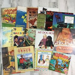 Lot 15 Kid ALL Scholastic Picture Books Alphabet Rescue Rainbabies Old Black Fly