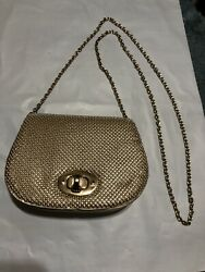 la regale evening bag Gold Bead Gold chain Free Shipping $11.00