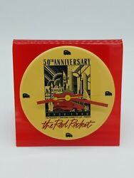 Extremely Rare Collectible Red Rocket 50th Anniversary Ttc Toronto Table Clock