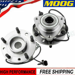 Moog 2 Front Wheel Bearing And Hub For 97-04 Chevy Blazer S10 Gmc Sonoma 4wd W/abs