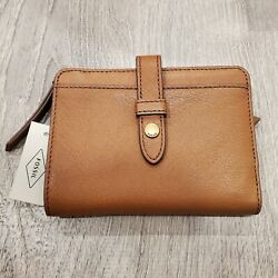Fossil Fiona Multifunction Women's Leather Brown Wallet 5 x 4 $33.00