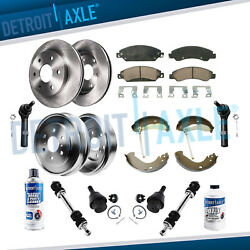 16pc 2007-2008 Silverado Front And Rear Rotor Drum Pads Shoes + Suspension Kit