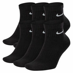 Nike Everyday Cotton Cushion Ankle Socks 6 Pack Dri-Fit Men 8-12 Large Brand New $13.99
