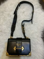 DESIGNER PRADA CAHIER LEATHER BLACK BAG  $2,600.00