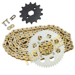 428-118l Gold Drive Chain And 14/50 Tooth Sprockets Kit For 1985-2003 Honda Xr100