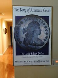 Bowers And Merena Auction Poster - Framed - King Of American Coins