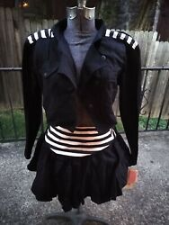 Vintage 1980s Young Edwardian 2 Piece Tags Club Tiered Skirt And Jacket Sz 11 Nwt