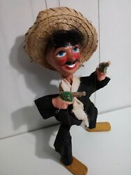 Vintage Marionette From Mexico/mexican Doll/hand Puppet
