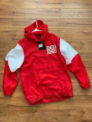 Nike Red New York Giants Historic Anorak Quarter-zip Pullover Size L New