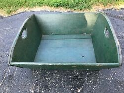 Antique Wooden Commercial Fishing Boat Fish Tub Used In Door County Wi