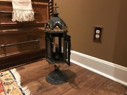 19th Antique Italian Processional Lantern With Original Candle