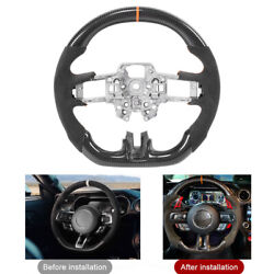 Carbon Fiber Steering Wheel For Ford Mustang Ecoboost Gt Shelby Gt350 /gt350r Fz