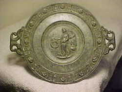 1890 Antique Roman Victory Greek Nike Tazza Saucer Cup Dish Server Victorian