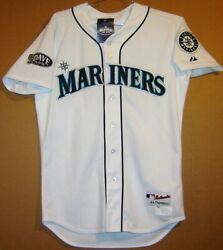 Seattle Mariners Mike Brumley 2011 Home Button-down Mlb Jersey