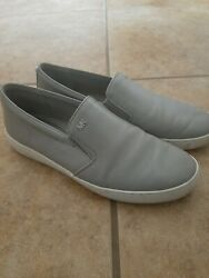 Womens Michael Kors Grey Slip On Shoes Size 10 Leather $18.00