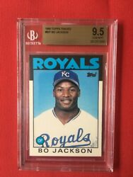 Bo Jackson 1986 Topps Traded Rookie Card 50t Beckett Grading 9.5