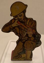 1940's Marx Soldiers Of Fortune Infantry Private Tin Target Play Set