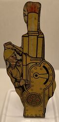 1940's Marx Soldiers Of Fortune Howitzer Tin Target Play Set Metal Toy