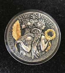 2018 Victoria And Nike Goddess Strong And Beautiful Goddesses 2oz Silver Coin 5