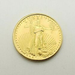 1999 American Eagle 1/10 Ounce 5 Five Dollar Liberty Round Gold Coin