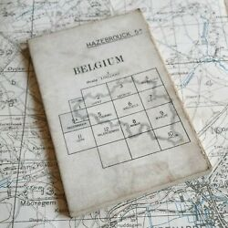 Original 1915 Mametz Somme Map Ww1 War Office British Trench Medal Military