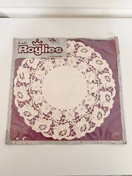 9 Vintage Roylies Craft Round Floral 10 Inch White Paper Lace Doilies Coasters