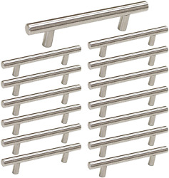 3.5 Inch Drawer Pulls Brushed Nickel Cabinet Handles 3-1/2in 90mm Center 15 Pack