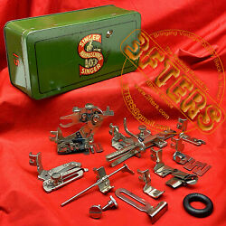 German Singer Attachments Box For 15k 15 15-91 Low Shank Sewing Machines Simanco