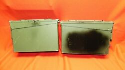 Lot Of 2 Military Ammo Metal Box Can 200 Crtg 7.62mm Nato M80 M13 Free Shipping