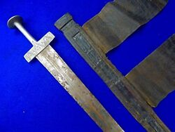 Antique Vintage Old North African Africa Sword W/ Scabbard