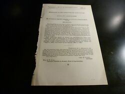 Government Report 1892 Messenger To Committee On Agriculture $22.00