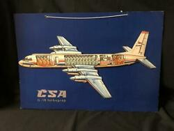 Illyushin Il-18 Soviet Jet Airplane Aircraft Airline Cut-away Poster Model 1960