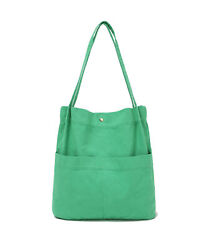 Canvas Tote Handbag Shoulder Bucket Bag Crossbody Purses For Men amp; Women Pockets $17.99