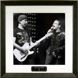 Bono And Edge Framed Gallery Photo With Engraved Nameplate